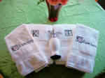 Monogrammed Towel Set 1